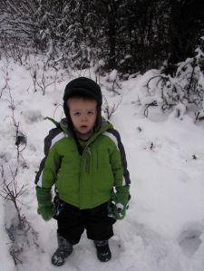 Zach in snow